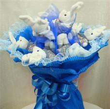 7 adet pelus ayicik buketi  Gölbaşı çiçek online çiçek siparişi
