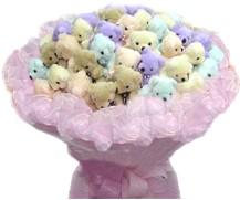 Gölbaşı çiçek siparişi yurtiçi ve yurtdışı çiçek siparişi  36 adet ayicik demeti