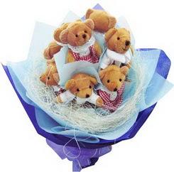 12 adet hediye ayicik bear demeti  Çiçek yolla Gölbaşı internetten çiçek satışı
