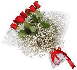 7 adet essiz kalitede kirmizi gül buketi  Gölbaşı ucuz çiçek gönder