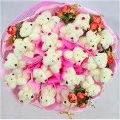 25 adet ayiciktan ayi buketi  Gölbaşı çiçek yolla , çiçek gönder , çiçekçi