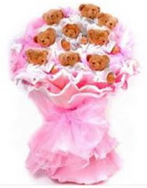 11 adet ayiciktan teddy bear buketi  Ankara Gölbaşı çiçek gönderme