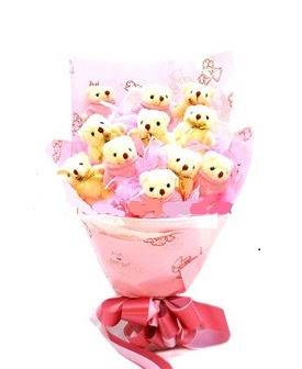 15 adet ayiciktan ayi buketi  Gölbaşı çiçekçiler  çiçek siparişi sitesi