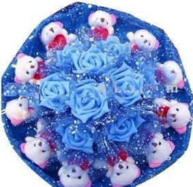 9 adet yapay gül 11 adet ayiiktan buket  Gölbaşı çiçek yolla , çiçek gönder , çiçekçi