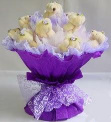 15 adet ayiciktan ayi buketi  çiçek siparişi Gölbaşı çiçekçiler