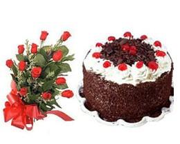 Gölbaşı ankara çiçek servisi , çiçekçi adresleri  10 adet kirmizi gül buketi ve yaspasta