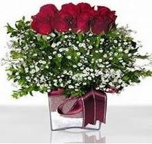 Gölbaşı çiçek siparişi yurtiçi ve yurtdışı çiçek siparişi  mika yada cam vazo içerisinde 7 adet gül