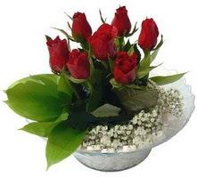 Gölbaşı çiçek siparişi yurtiçi ve yurtdışı çiçek siparişi  cam yada mika içerisinde 5 adet kirmizi gül