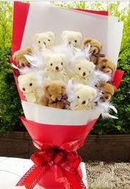 11 adet ayi buketi en güzel hediye  Gölbaşı çiçekçi telefonları