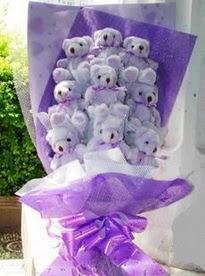15 adet ayi buketi en güzel oyuncak hediye  Gölbaşı çiçekçi güvenli kaliteli hızlı çiçek