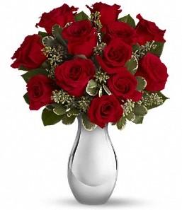 Ankara çiçekçi Gölbaşı İnternetten çiçek siparişi   vazo içerisinde 11 adet kırmızı gül tanzimi