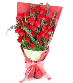 Ankara Gölbaşı 14 şubat sevgililer günü çiçek  37 adet kırmızı güllerden buket