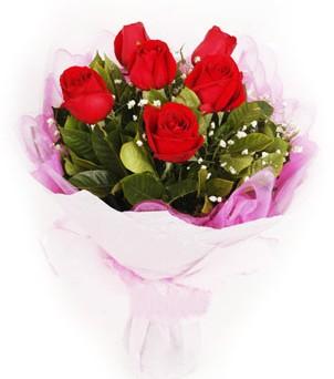 Gölbaşı ucuz çiçek gönder  kırmızı 6 adet gülden buket