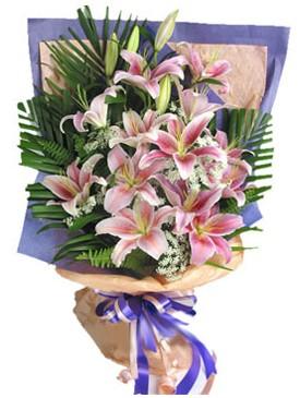 7 dal kazablankadan görsel buket  Çiçek yolla Gölbaşı internetten çiçek satışı