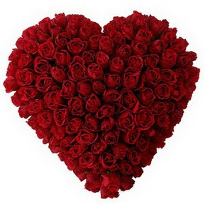 Gölbaşı çiçek kaliteli taze ve ucuz çiçekler  muhteşem kırmızı güllerden kalp çiçeği