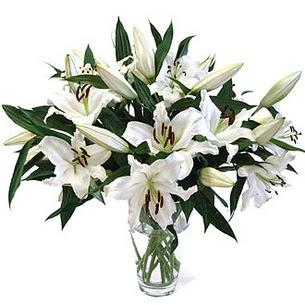 Gölbaşı anneler günü çiçek yolla  3 dal görsel casablanca vazo tanzimi