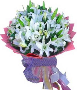 7 dal cazablanca görsel buketi  Gölbaşı çiçek kaliteli taze ve ucuz çiçekler