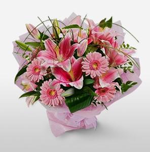 1 dal kazablanka ve kır çiçek görsel buketi  Gölbaşı çiçek siparişi yurtiçi ve yurtdışı çiçek siparişi