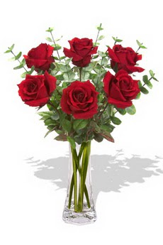 Gölbaşı çiçek kaliteli taze ve ucuz çiçekler  6 kırmızı gül vazosu