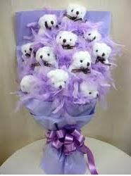 Gölbaşı çiçek yolla , çiçek gönder , çiçekçi   sevgilime hediye 11 adet ayı buketi