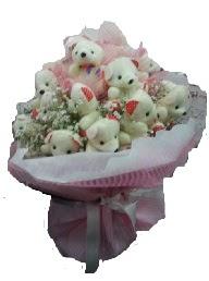 Gölbaşı çiçek kaliteli taze ve ucuz çiçekler   12 adet ayıcıktan ayı buketi