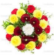 Gölbaşı çiçek kaliteli taze ve ucuz çiçekler  13 adet mevsim çiçeğinden görsel buket