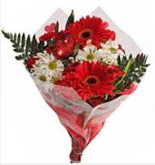 Mevsim çiçeklerinden görsel buket  Gölbaşı çiçek yolla online çiçekçi , çiçek siparişi