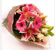 1 dal kazablanka ve mevsim çiçekleri  Gölbaşı çiçek yolla , çiçek gönder , çiçekçi