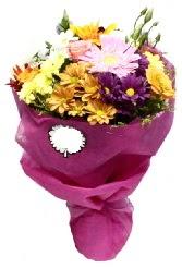 1 demet karışık görsel buket  Gölbaşına çiçek , çiçekçi , çiçekçilik