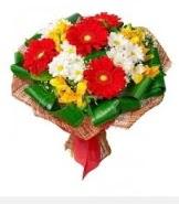 1 demet karışık buket  Gölbaşı ucuz çiçek gönder