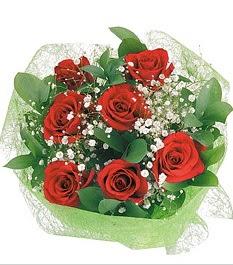 7 adet kırmızı gülden buket tanzim  Gölbaşı Ankara çiçek yolla