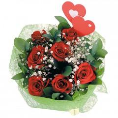 Gölbaşı çiçek siparişi yurtiçi ve yurtdışı çiçek siparişi  7 adet kırmızı gül ve 2 adet kalp çubuk