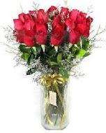 27 adet vazo içerisinde kırmızı gül  Ankaradaki çiçekçiler Gölbaşı cicek , cicekci