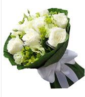 9 adet beyaz gül buketi  Gölbaşı çiçekçi güvenli kaliteli hızlı çiçek