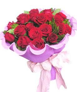 12 adet kırmızı gülden görsel buket  Gölbaşı çiçek kaliteli taze ve ucuz çiçekler