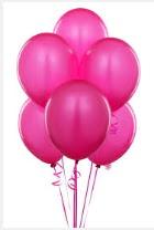 11 adet penbe uçan balon buketi