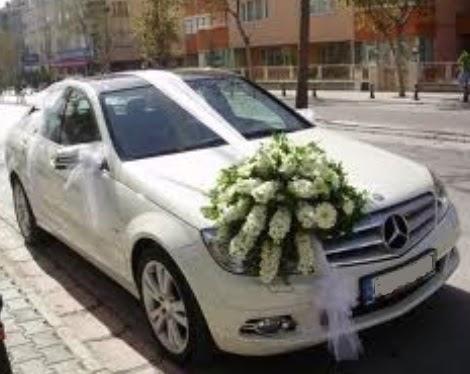 Gelin arabası süslemesi  Ankara Gölbaşı hediye sevgilime hediye çiçek