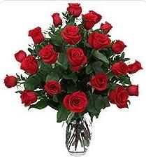 Gölbaşı çiçekçi güvenli kaliteli hızlı çiçek  24 adet kırmızı gülden vazo tanzimi