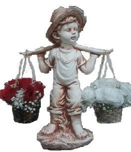 50 cm biblo bebek 5 kırmızı 5  beyaz canlı gül