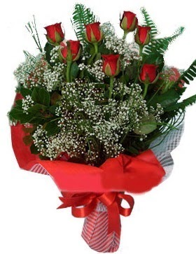 7 kırmızı gül buketi  Çiçekçi Gölbaşı çiçekçi mağazası