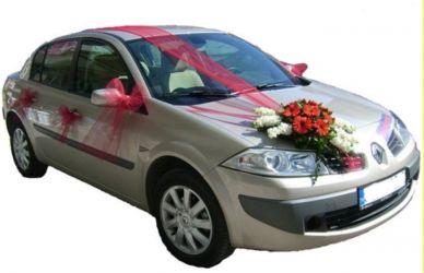 Çiçekli gelin arabası süsü  Ankaradaki çiçekçiler Gölbaşı cicek , cicekci