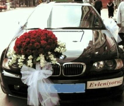 Görsel gelin arabası süslemesi  Gölbaşı çiçekçiler  çiçek siparişi sitesi