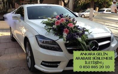 Ankara gelin araba süsü süslemesi  Gölbaşı çiçekçiler  çiçek siparişi sitesi
