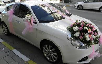 Düğün arabası süslemesi  Ankara Gölbaşındaki çiçekçiler ankara çiçek satışı