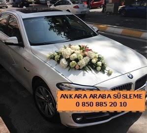 Ankara düğün araba süsleme  Ankara Gölbaşı çiçek gönderme