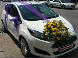 Ankara araba süslemesi  Ankara Gölbaşı internetten çiçek siparişi