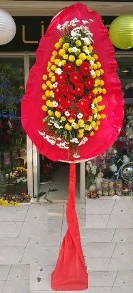 Gölbaşı çiçekçi güvenli kaliteli hızlı çiçek  Tek katlı düğün nikah çiçeği