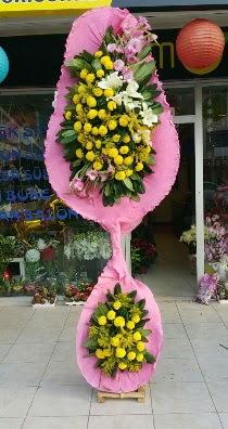 Çift katlı düğün açılış çiçeği  Çiçekçi Gölbaşı çiçekçi mağazası
