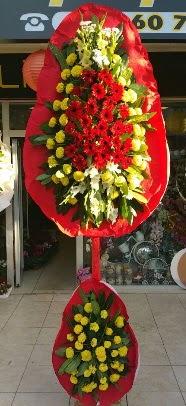 Çift katlı düğün açılış çiçek modeli  Çiçekçi Gölbaşı çiçekçi mağazası