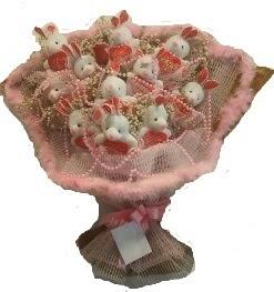 12 adet tavşan buketi  Gölbaşı çiçekçiler  çiçek siparişi sitesi